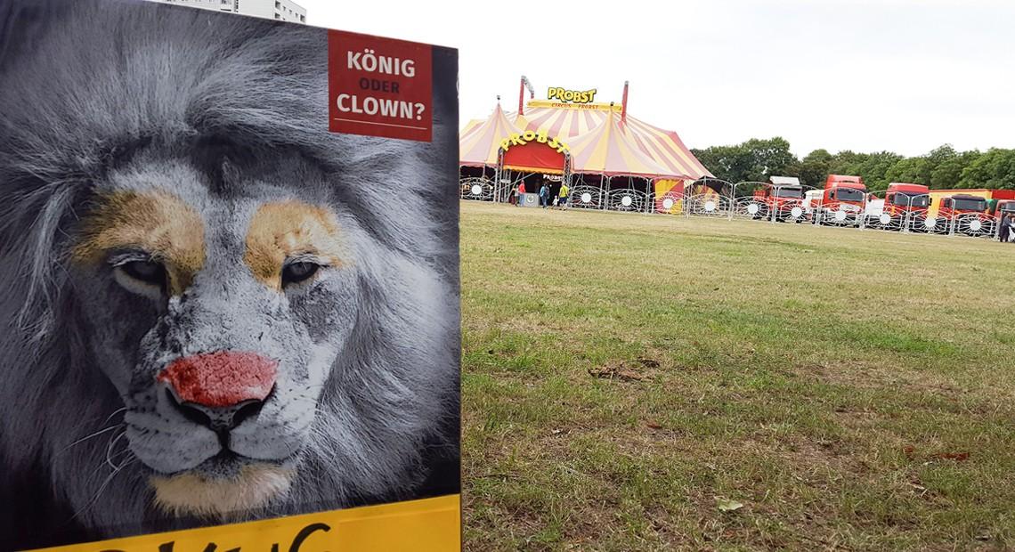 Kundgebung am 28.06. vor dem Circus Probst